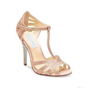 Gold Dress Heels Betsey Johnson Size 9